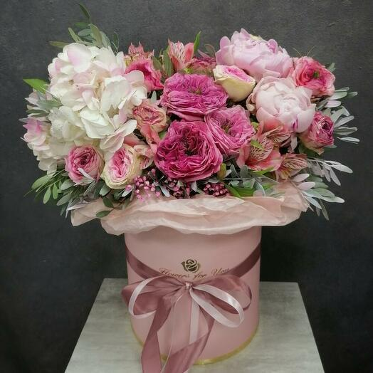 Romantic 💋 Букет из пионов, гортензии и пионовидных роз