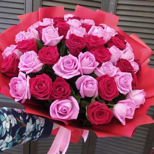 51 роза 50см