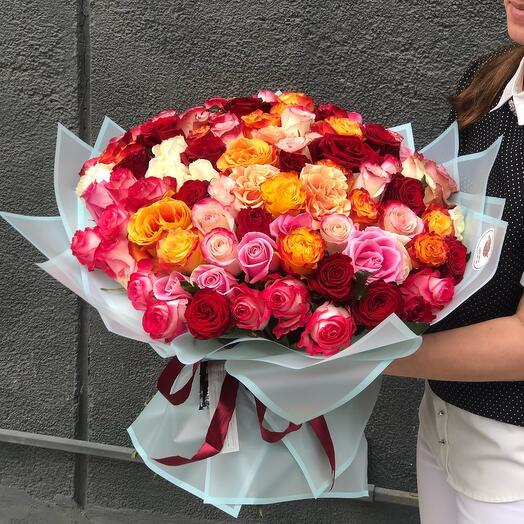Микс из 101 розы