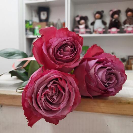 3 розы в ленту