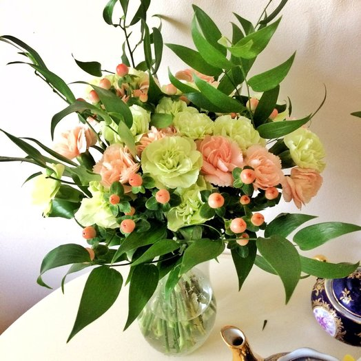 The softness of the colors: flowers to order Flowwow