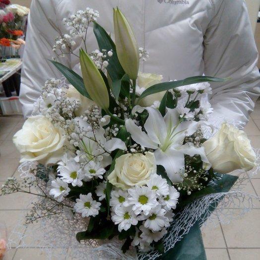 Белоснежный изыск: букеты цветов на заказ Flowwow