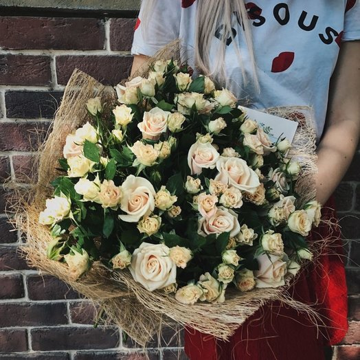 Букет Топленое молоко: букеты цветов на заказ Flowwow