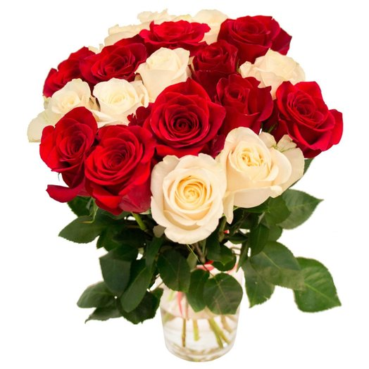 Роза микс 21 шт