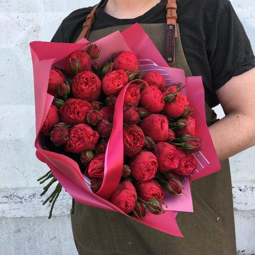 Букет кустовых пионовидных роз: букеты цветов на заказ Flowwow