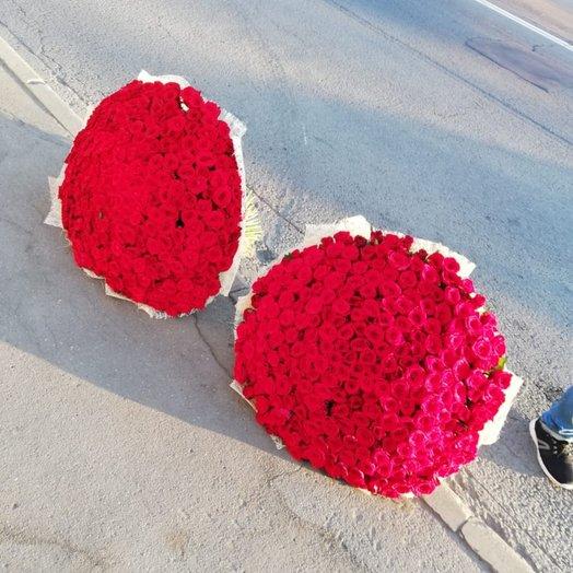 501 Красная роза: букеты цветов на заказ Flowwow