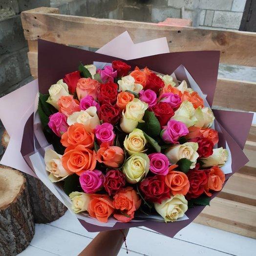 Микс 51роза: букеты цветов на заказ Flowwow
