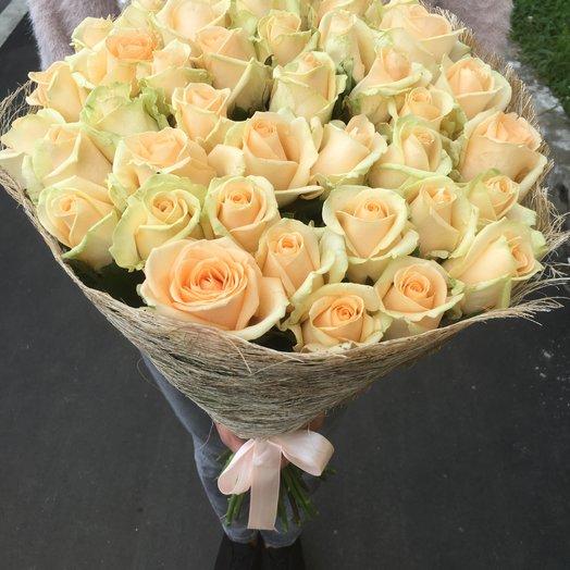 Персиковые розы 39ш