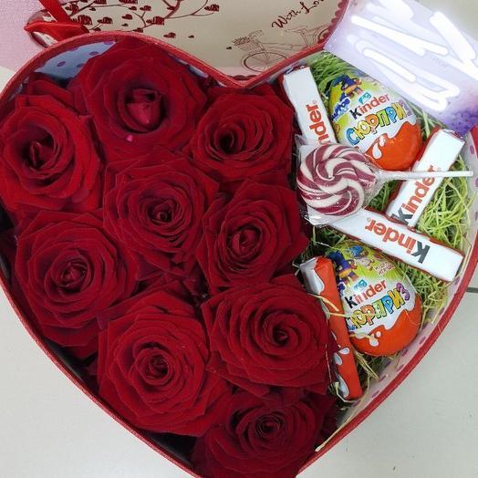 Сердце 1: букеты цветов на заказ Flowwow