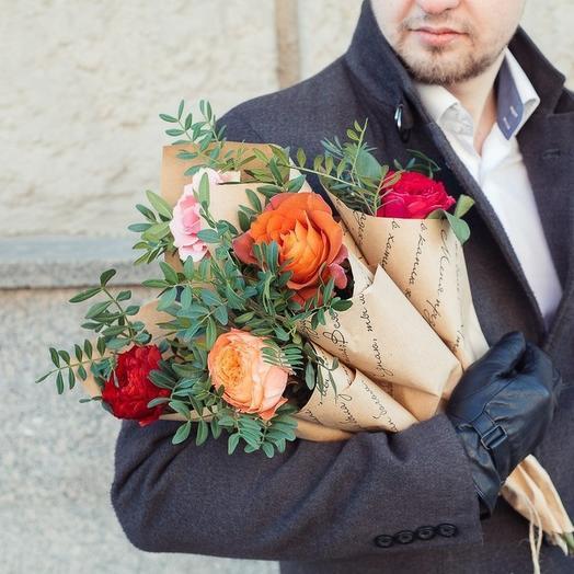 Комплимент из 5ти мини букетов: букеты цветов на заказ Flowwow