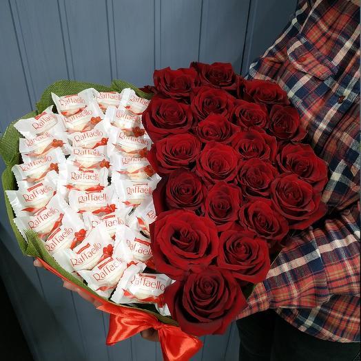 Страстный дуэт: букеты цветов на заказ Flowwow