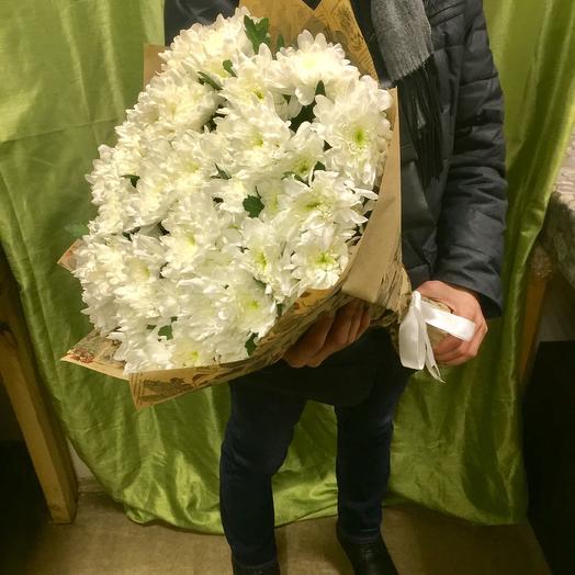 Букет белых хризантем: букеты цветов на заказ Flowwow