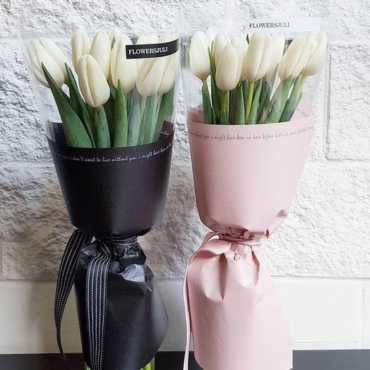 9 тюльпанов: букеты цветов на заказ Flowwow