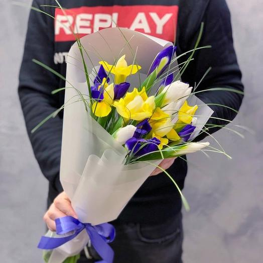 Ирисы микс: букеты цветов на заказ Flowwow