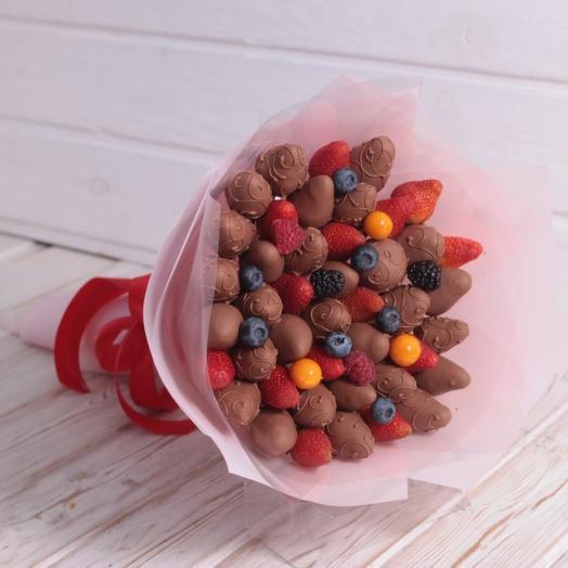 Ягодное ассорти в Бельгийском шоколаде: букеты цветов на заказ Flowwow