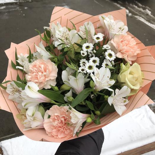 Букет персиковый: букеты цветов на заказ Flowwow
