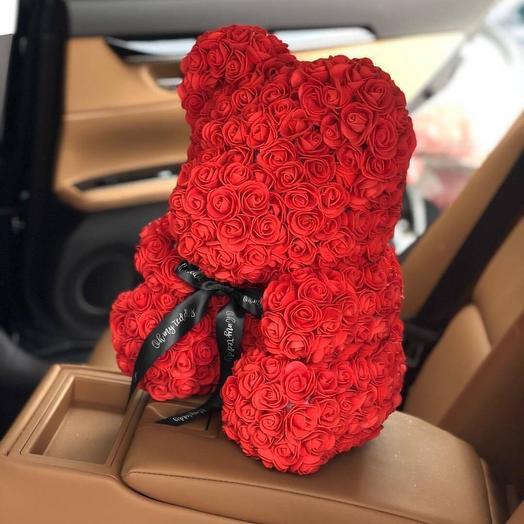 Мишка из роз 25см: букеты цветов на заказ Flowwow