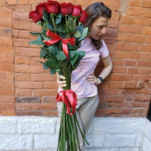 Огромные розы 90 см: букеты цветов на заказ Flowwow