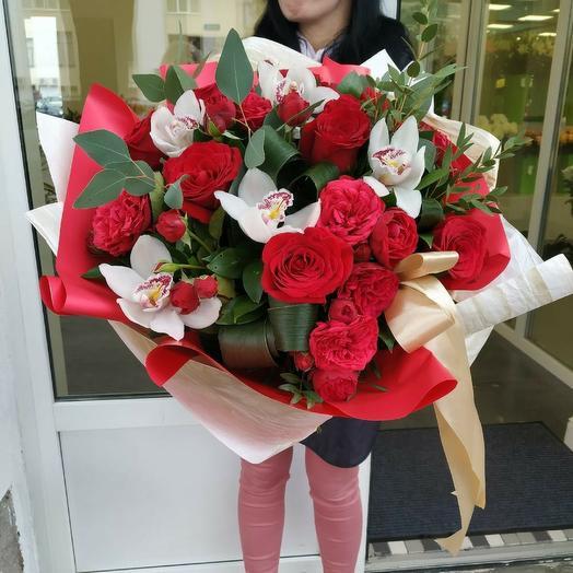 """Букет """"Два сердца"""": букеты цветов на заказ Flowwow"""