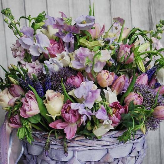 Корзина «Виолетта»: букеты цветов на заказ Flowwow