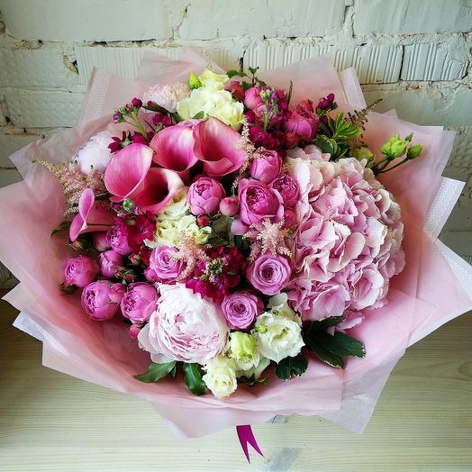 Розовое счастье: букеты цветов на заказ Flowwow