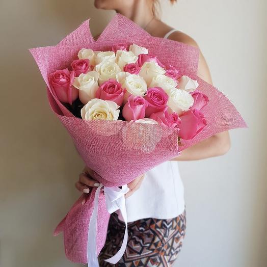 Бело-розовые 25