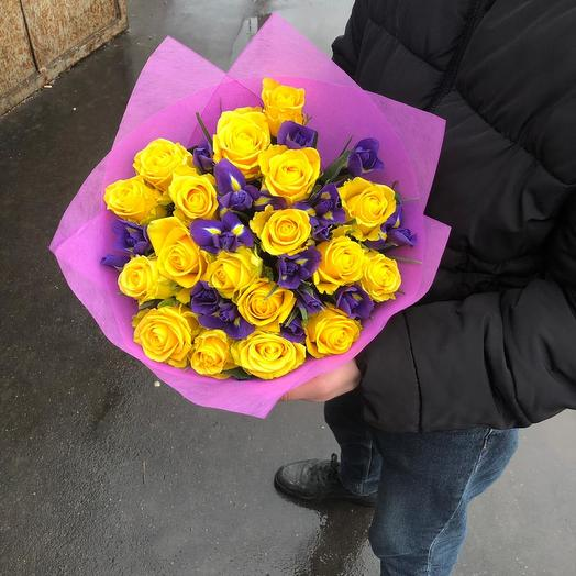 Микс тюльпаны/ирисы: букеты цветов на заказ Flowwow