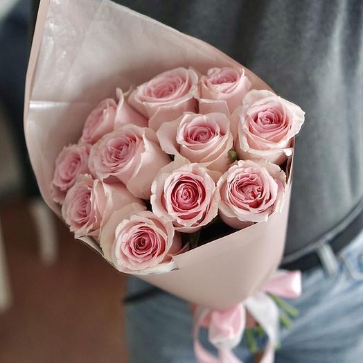 Моно-букет из нежных роз: букеты цветов на заказ Flowwow