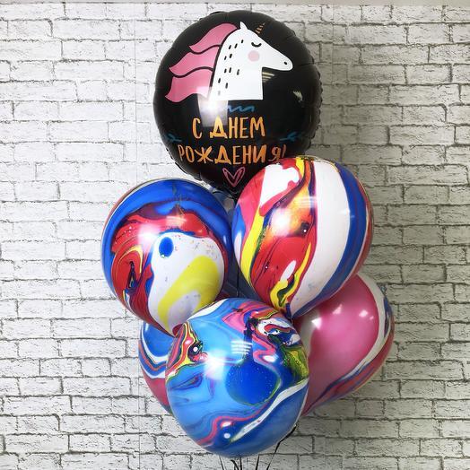 Шарики на день рождения «Единорог»: букеты цветов на заказ Flowwow