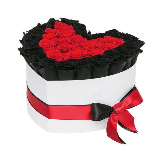 Черные розы сердце