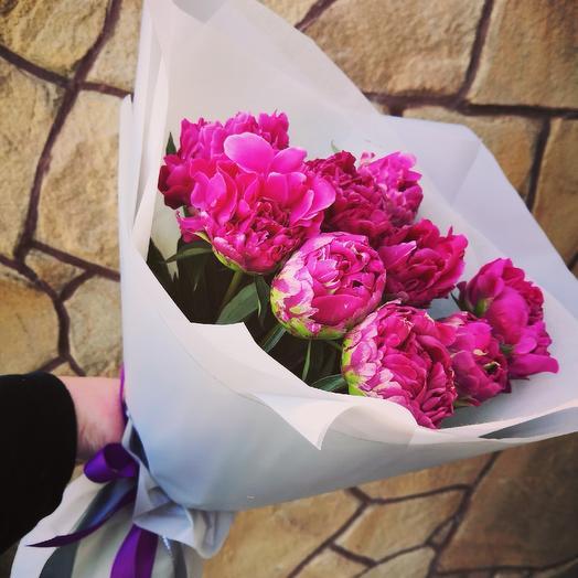Пионы Рэд Сара Бернар: букеты цветов на заказ Flowwow