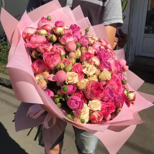 Букет из кустовых роз Идеалло