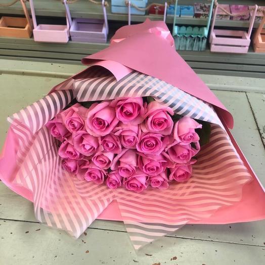 Букет роз « полосатое настроение»  21 шт