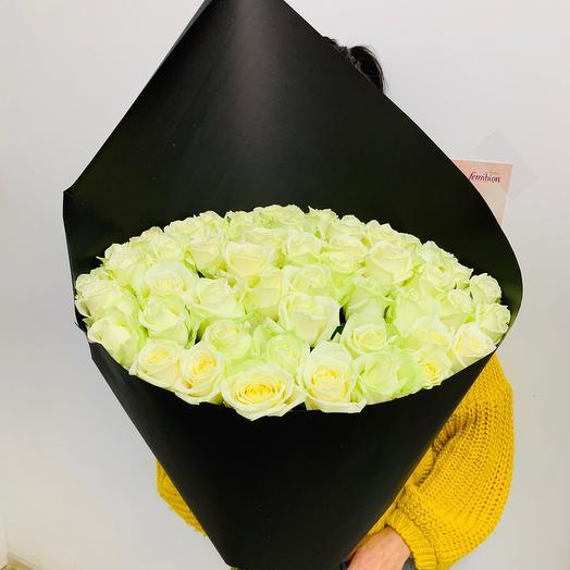 Стильный букет 51 Белая Роза