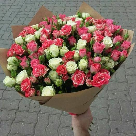 Кустовая Роза микс
