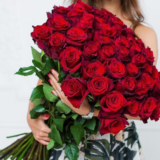 """Моно Букет из 25 роза """"Explorer"""""""