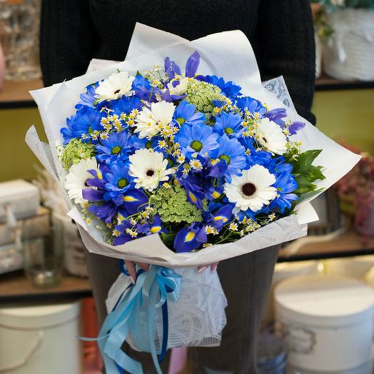 Букет цветов Васильки-ромашки