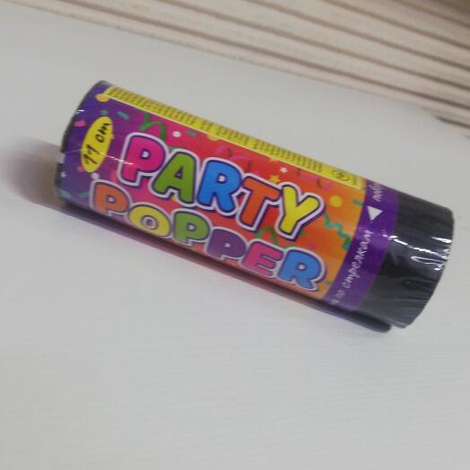 Хлопушка-конфетти с серпантином