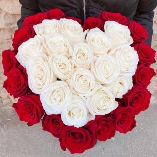 Бокс сердце с розами