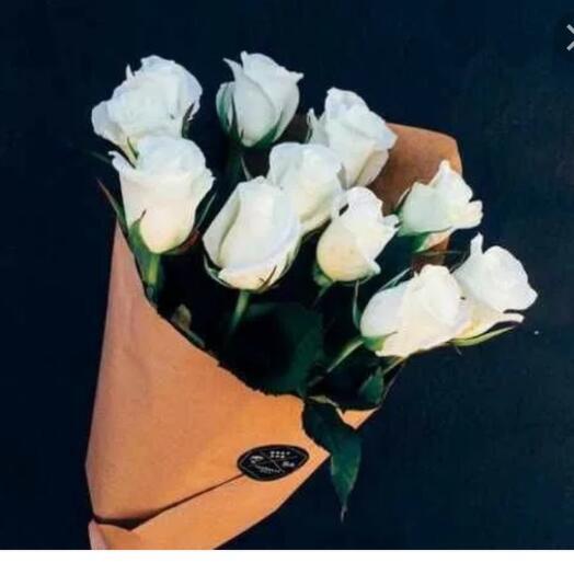 11 белых роз Кения