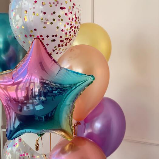 Фонтан из шариков