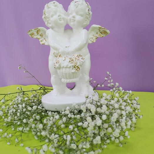 Статуэтка ангелы с корзиной