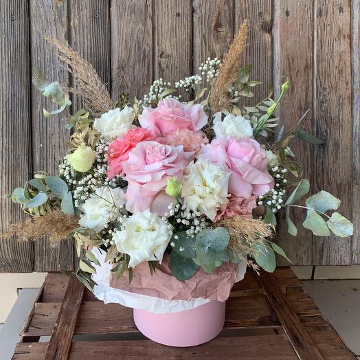 Цветы в коробке «Легкое пробуждение»