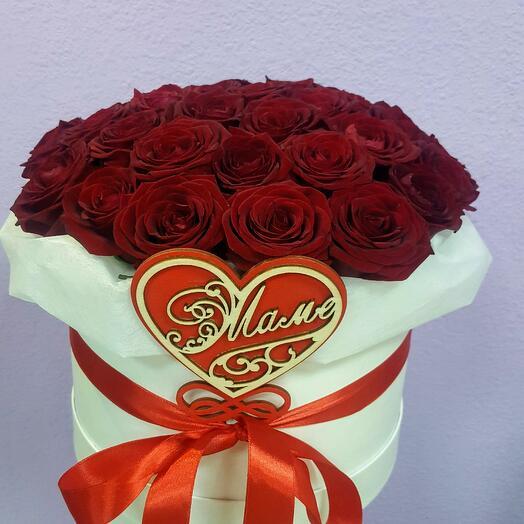 Коробка с розами 51 шт