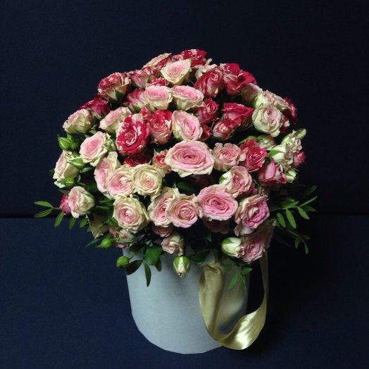 Королевишне Букет в шляпной коробке: букеты цветов на заказ Flowwow