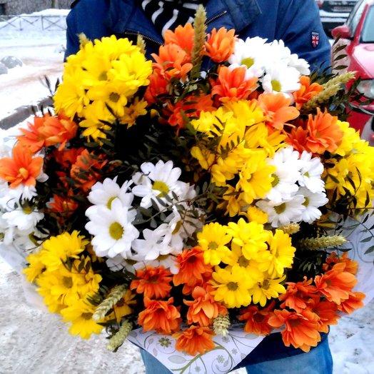 Хризантемовое чудо: букеты цветов на заказ Flowwow