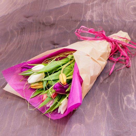 Тюльпан 11шт / Mix in Purp e: букеты цветов на заказ Flowwow