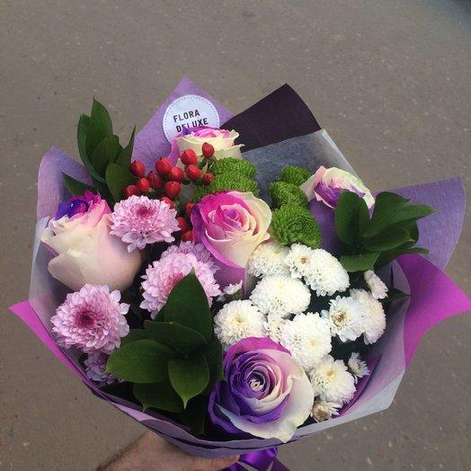 The bouquet HIT XS rose Bubble gum: flowers to order Flowwow