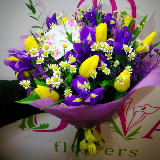 Яркий весенний букет: букеты цветов на заказ Flowwow