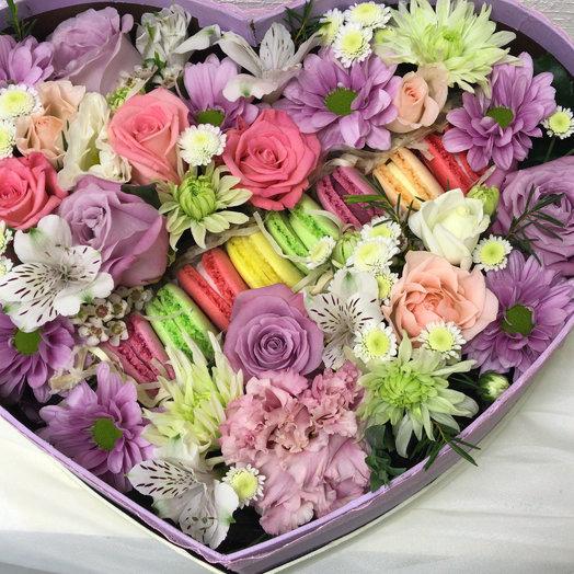 Вкусное сердечко: букеты цветов на заказ Flowwow